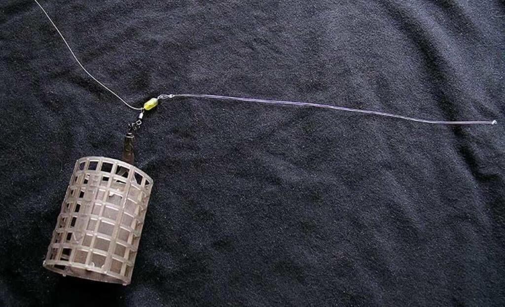 монтаж оснастки для фидерной ловли