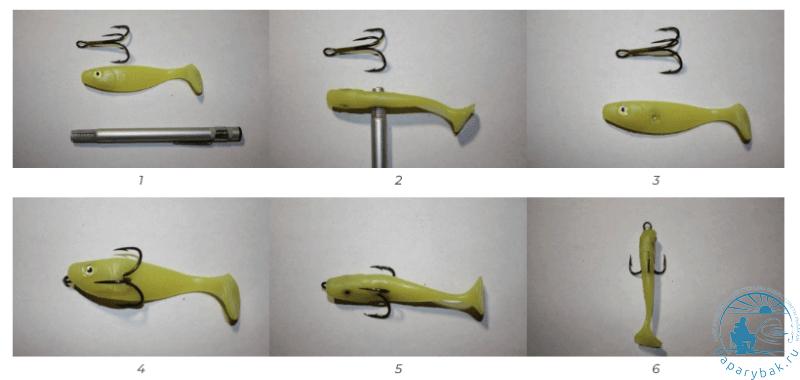 Как насадить силиконовую приманку на крючок