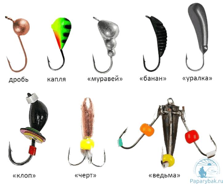 Разновидности мормышек