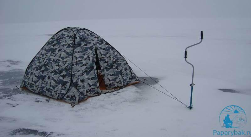 палатка с ледорубом