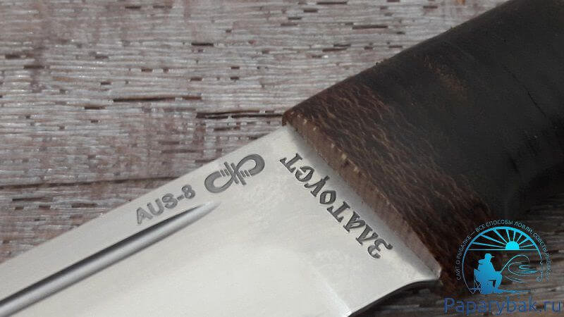 Нож златоуст из стали AUS-8
